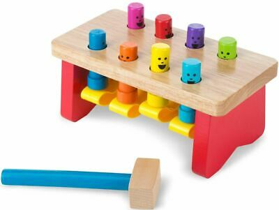 Melissa & Doug Deluxe Pounding Bench Colourful Wooden Children's Toy/Gift BN • 14.98£