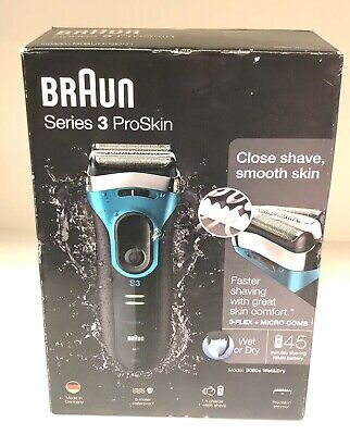 View Details Braun Series 3 ProSkin 3080s Wet And Dry Mens Electric Rechargeable Shaver Razor • 54.99£