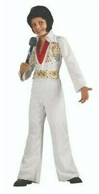 £14.30 • Buy Elvis Presley Costume Youth Boys Size Small 4-6 Jumpsuit Belt Scarf Cosplay New