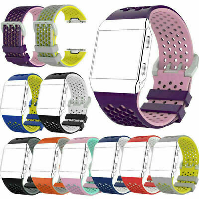 $ CDN6.17 • Buy Silicone Wrist Band Strap Bracelet Watchband For Fitbit Ionic Watch Replacement
