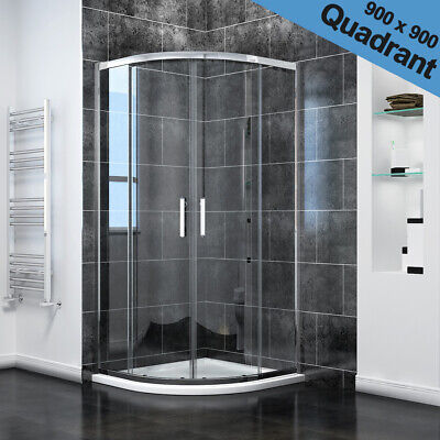 Quadrant Shower Enclosure 900 X 900mm Corner Walk In Cubicle Easy Clean Glass • 119.99£