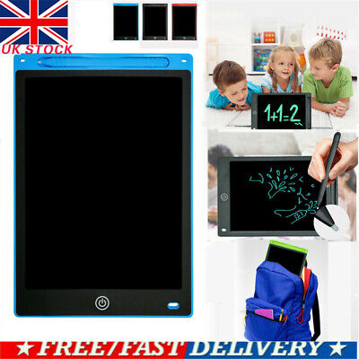 12'' LCD Digital Writing Tablet Drawing Board Notepad Writer Graphics Kids Gifts • 10.99£