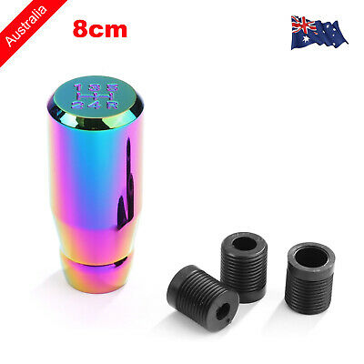 AU12.99 • Buy 3  NEO CHROME Universal Car 5 Speed Gear Shift Lever Manual Knob Shifter Stick