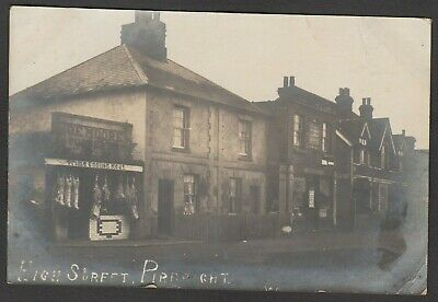 Postcard Pirbright Nr Woking Shop Front Of Butcher O E Moore Post Office 1903 RP • 24.99£