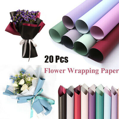 DIY 20Pcs Flowers Packaging Paper Frosted Florist Wrapping Paper Bouquet Tools • 8.29£
