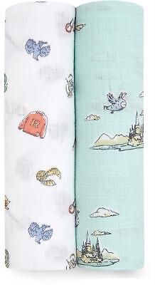 £19.99 • Buy Aden + Anais ESSENTIALS MUSLIN SWADDLE BLANKET - HARRY POTTER - 2 PACK BN