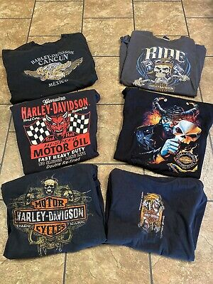 $ CDN70.56 • Buy Harley Davidson T-shirt Collection Lot X 6 2006-12 Size XL Some Vintage Dixie