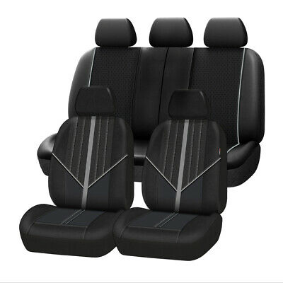 AU94.99 • Buy Universal Grey Leather Car Seat Cover Airbag Compatible Waterproof For SUV Sedan