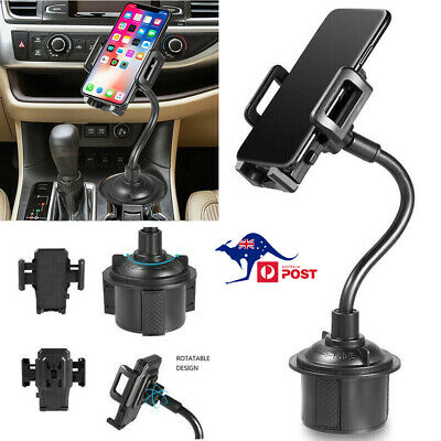 AU18.99 • Buy Universal Car Mount Adjustable Gooseneck Cup Holder Cradle For Cell Phone Iphone