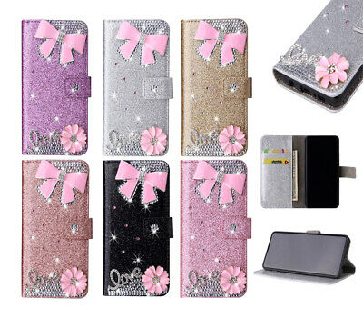 3D Bowknot Bling Wallet Phone Case Cover For IPhone 11 12 Pro Max XR 6 7 8 Plus • 5.99£