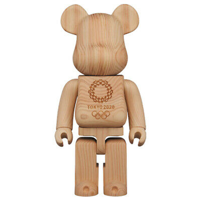 $219.99 • Buy Street Art Style 400% Hot Sale Bear Brick Tokyo 2020 Wood Action Figure Toys Gif