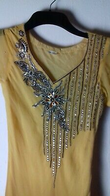 Two Tone Indian Style Dress With Sequin Detail . Size Xs • 5.50£