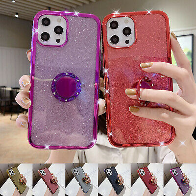 AU10.99 • Buy For IPhone 12 Pro Max 11 XR XS 8 Plus 7 6s Ring Stand Case Bling Diamond Cover