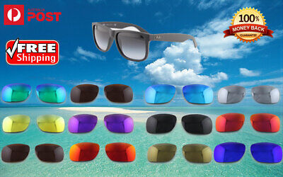 AU19.99 • Buy New Rayban Justin 4165 Polarized Replacement Lenses Protection Sunglasses 54mm