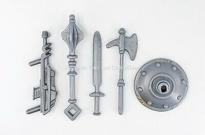 $9.99 • Buy Masters Of The Universe GREY ACCESSORY PACK Vintage LOT OF 5 WEAPONS PARTS MOTU
