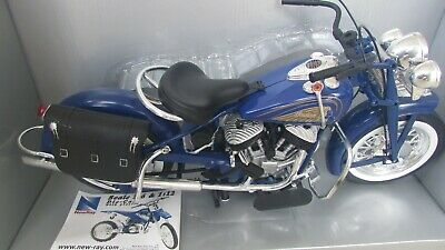 New Ray 1948 Indian Motorcycle Blue 1:6 Scale Die Cast Road Cruiser Original Box • 171.01£