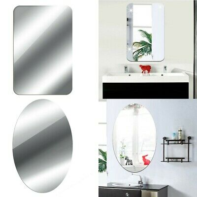 Mirror Tile Wall Stickers Square Self Adhesive Room Decor Stick On Art Bathroom • 4.71£