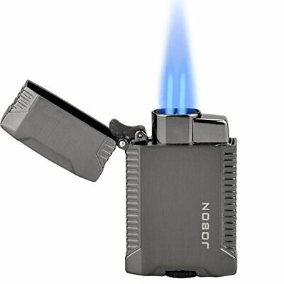 TOPKAY Double Jet Lighter, Windproof Butane Gas Cigarette Lighter, Cigar Lighter • 20.47£