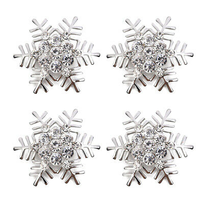£6.61 • Buy 4/8x Snowflake Napkin Rings Sparkling Napkin Holders Buckles Party Table Decor
