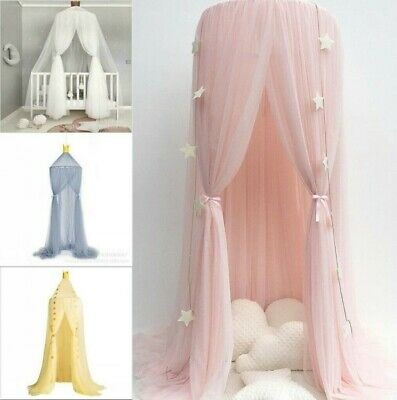 Kids Girls Bed Canopy Mosquito Net Bedcover Curtain Dome Tent Bedroom Netting • 20.99£