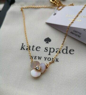 $ CDN30.35 • Buy Kate Spade New York Disco Pansy Mother Of Pearl Petal Necklace