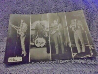 The Beatles Genuine 1963 Valex Blackpool Photograph  Postcard V64 On Stage Live • 12.99£