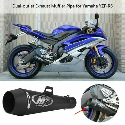 $79.99 • Buy M4 Motorcycle Exhaust Muffler Pipe For R1 R6 GSXR600 750 ZX6R CBR500R FZ09