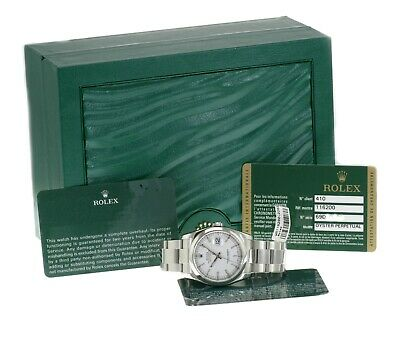 $ CDN8608.13 • Buy Rolex Datejust Watch Mens Stainless Steel White Index Oyster Band 36mm 116200