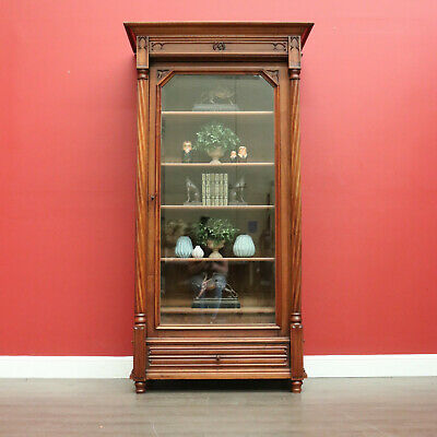 AU2800 • Buy Antique Gothic Bookcase, Antique French China Cabinet Display Bookcases Cupboard