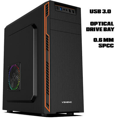 AU60 • Buy Computer Case, Case For Desktop Computer 0.6mm SPCC Full ATX Optical Bay