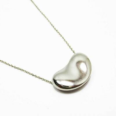 £63.97 • Buy Tiffany & Co. Large Bean Necklace Pendant Sterling Silver 925 Elsa Peretti 20mm