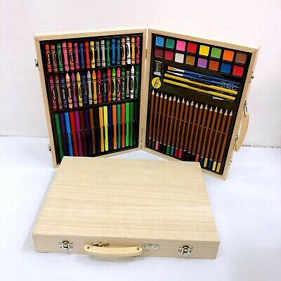 71 - 251 Artists Wooden Art Case Pencils Crayons Colour Painting Oil Pastels Set • 19.99£