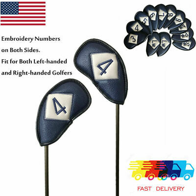 AU47.64 • Buy Golf Head Covers Iron Set 12 Piece  For Left Handed Golf Clubs