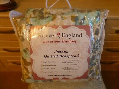 Forever England Joanna Quilted Double Bedspread Original Packaging & Cushion  • 35£