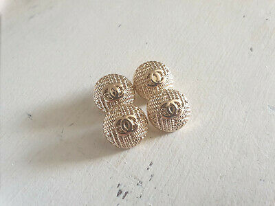 Set Of 4 Chanel Vintage Stamped Buttons 20mm • 45£