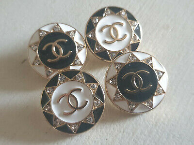Set Of 4 Chanel Vintage Stamped Buttons 25mm • 45£