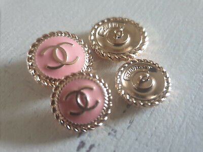 Set Of 4 Chanel Vintage Stamped Buttons 16mm 20mm • 40£