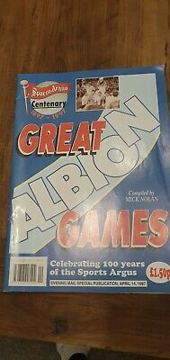 Sports Argus West Bromwich Albion Great Albion Games Booklet  • 1.50£