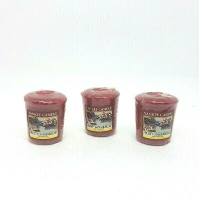 Yankee Candle Votive Scented Candles Frosty Gingerbread 49g X 3 • 5.99£