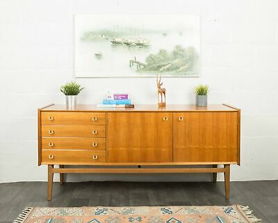 Mid Century Walnut Sideboard By A Youngers Furniture Retro Credenza Cutlery Draw • 450£