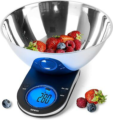 Duronic Digital Kitchen Scales KS5000 3L Bowl  5KG Capacity Large Display (O6) • 24.99£