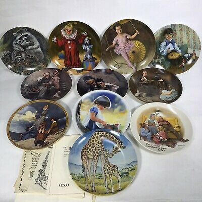 $ CDN38.26 • Buy Decorative Collector Plates LOT OF 11, Norman Rockwell,reco,knowles China