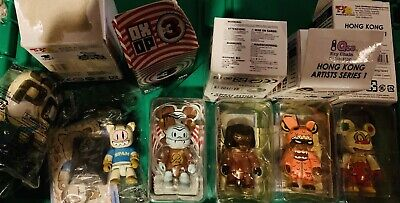 $26 • Buy Toy2R 2.5 Qee Key Chain RARE SERIES Set Of 5 Pieces + Bonus Prize