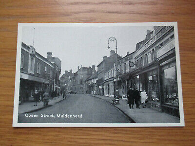 1950's Unused Postcard Queen Street, Maidenhead Berkshire T.V.A.P. Oxford Series • 1.95£