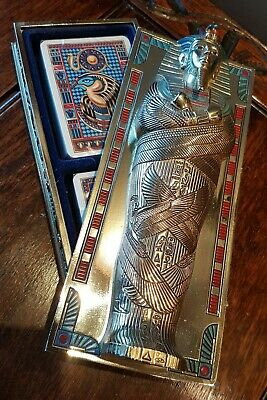 Franklin Mint The Treasures Of Tutankhamun Card Box... Sealed Cards* Excellent * • 45£