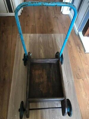 £15 • Buy Vintage Wooden Push Along Toy Trolley