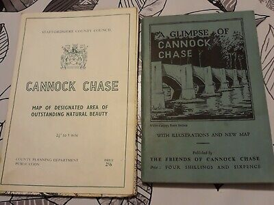 Cannock Chase Vintage Map Book Glimpse Of Cannock Chase  • 1£