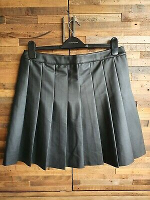 Ladies Faux Leather Knee Length Skirt, Size 14, Oasis • 2.70£