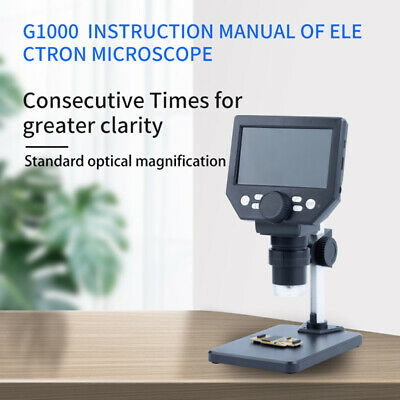 4.3 1000X Zoom HD LCD Monitor Electronic Digital Video Microscope 8LED Magnifier • 29.79£