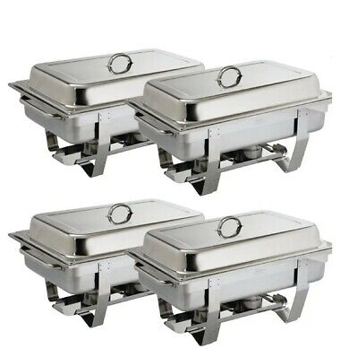 £120 • Buy Pack Of 4 Olympia Stainless Steel Chafing Dish Sets